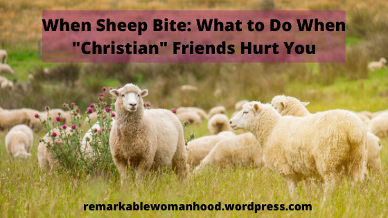 "When Sheep Bite : What to Do When Christian ""Friends"" Hurt You"